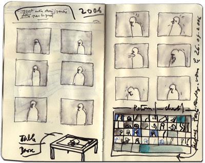 cahier de Michel herreria, k.a.r.a.o.e, 2006