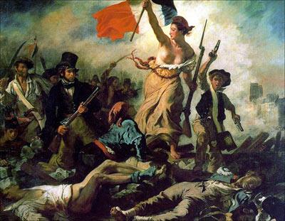 Eugène Delacroix, La liberté guidant le peuple, 28 juillet 1830