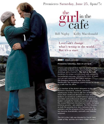 the girl in the cafe, HBO, 2006