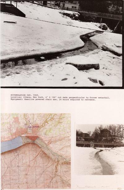 Deniis oppenheim, accumulation cut, 1969